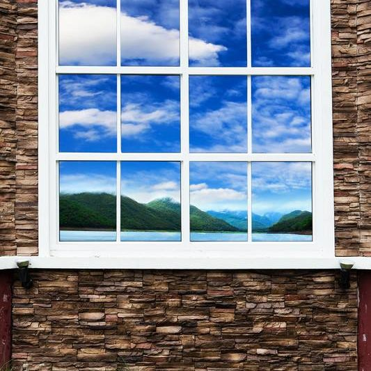 House with window with a view